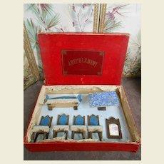 **Dollhouse furniture in the original box*** approx 1900