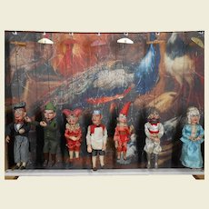 ***Fabulous  7 puppets/marionettes unused condition***