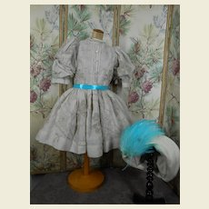 ****Fabulous dress and hat****Antique fabric !