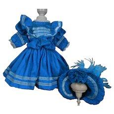 ***Sweet wild silk dress with matching hat****