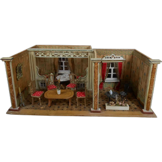 ***Fabulous two-dollroom Albin Schönherr***Dollhouse..