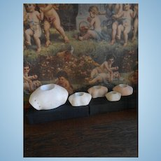 ***Five antique shoulder plates****in good condition !