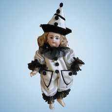 **Beautiful PIERROT costume....in ivory color and black...