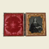 **An antique Victorian Ambrotype photograph frame with a lady***