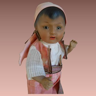 **Very extraordinary brown Indian boy, all original !!! 11,2 inches tall !