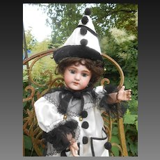 Lovely 20 inch French DEP, dressed as a Pierrot..In excellent condition !
