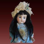 **A rare antique  Black hair wig for an Asian or Mulatto doll***