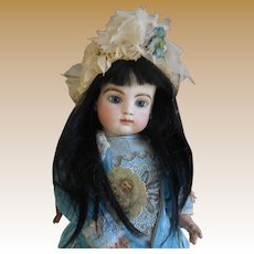 **A rare antique  Black hair wig for an Asian or Mulatto doll***