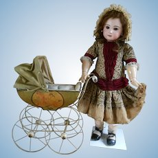 Amazing Vintage Pram / Carriage for your doll..with lovely images on each side...