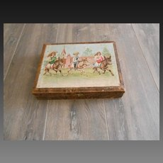 ***Wonderful French block puzzle, lovely images...approx 1880-1890.