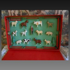**In the original box...Erzgebirge Farmer with his cattle and fences****