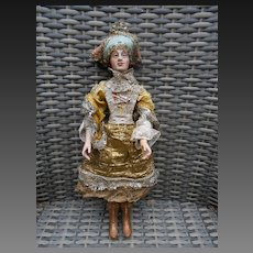 Extremely rare wooden doll**Beautiful***13,6 inches