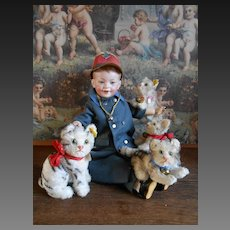 **Adorable Steiff Cats family....4 cute kittens***approx 1950-1960