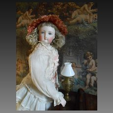 """**Outstanding miniature French antique Oil lamp 7""""tall.***"""