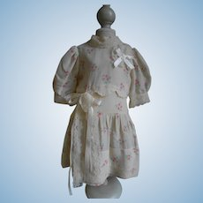**Lovely floral dress for a doll of around 20 inches**