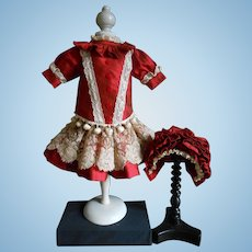 """Wonderful 3-piece costume, ..red and creme.... for your 20 """"doll."""