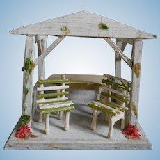 ***Pavilion**Very Tiny...probably Gottschalk...incl. furniture