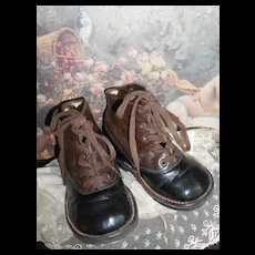 *****Antique leather childrens boots*****approx 1910-1920