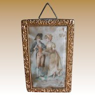 **Beautiful German dollhouse picture..with a romantic image....
