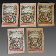 "**Very rare and hard to find authentic 5 ""Kinderfreund"" booklets***"