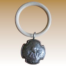 **Small French silver rattle***Mon Petit Angel****