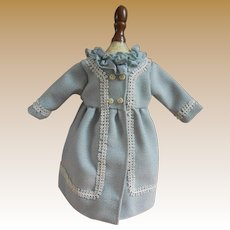 **Lovely blue/green Jacket for your small doll***nicely made !