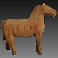 **a wooden hand carved Horse**approx 1900