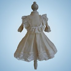 **Sweet ivory dress with lace and slip dress*****