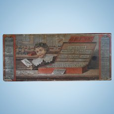 **An educational French LETTER box approx 1900***