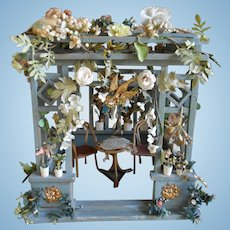 **Amazing GAZEBO**all complete...china flowers..furniture and bird cage...