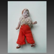 **A sweet tiny all bisque boy doll for your doll house...***