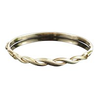 Vintage 1970s Designer 14K Yellow Gold Bangle, 11.2g