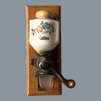 Remarkable Rare German Doll Kitchen Wall Coffee Grinder 1910-1920