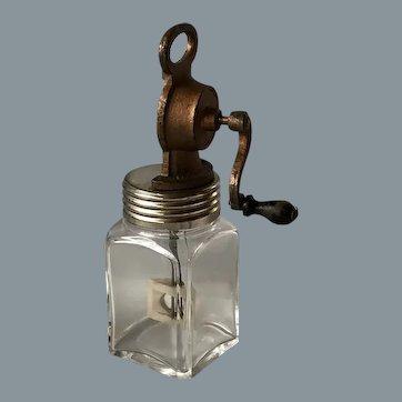 Amazing antique butter glass / churn