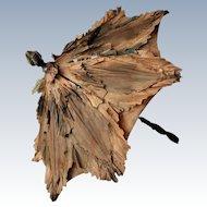 French Silk antique doll parasol