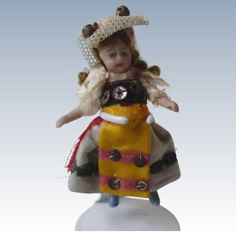 Lilliputian A/O - very pretty Swiss or French Costume