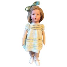 Lovely Kathe Kruse doll German Child - fabric head