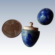 Antique tiny Grodnertal doll peg doll in an easter egg
