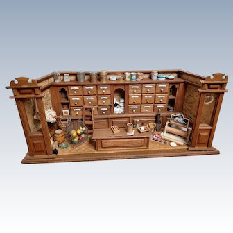 Amazing antique fully filled German Grocery store