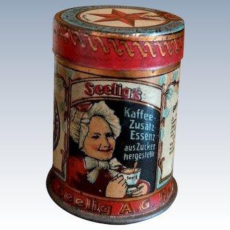 Fabulous colorful Coffee tin can 1910