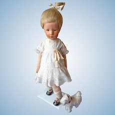 (on Lay-away  Thank you M. ) Oil Painted Kathe Kruse Cloth Doll - SIGNED - Fabulous Ilsebill