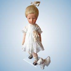 Oil Painted Kathe Kruse Cloth Doll - SIGNED - Fabulous Ilsebill