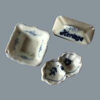 Antique beautiful Blue and white porcelain set