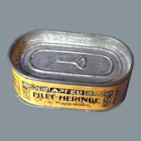Antique tin box Heringe with Mayonaise approx 1920