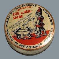 Antique German Tin box sweet decor