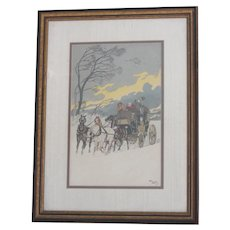 The Gale by Harry Eliott Signed Lithograph