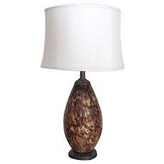 Large Vintage Blown Glass Mid-Century Modern Lamp