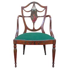 Antique Sheraton Revival Armchair-Circa 1900