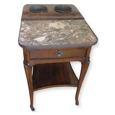 De Bournay Rafraichissoir Table with Marble Top