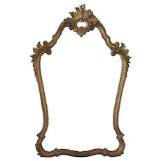 "Vintage Italian Gold Hand Carved Mirror 43"" Tall"